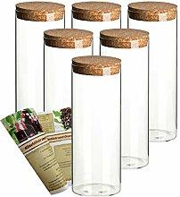 gouveo 6er Set 1.000 ml Glasdosen Vorratsdosen aus