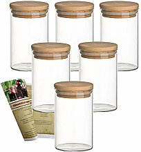 gouveo 6er Set 250 ml Glasbehälter aus