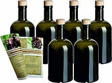 gouveo 6er Set Leere Glasflaschen Klassik 500 ml