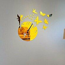 GOUZI Der Schmetterling Wanduhr sofa Hintergrund