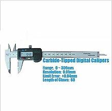 GOWE 0 ~300 mm hartmetallbestückt Digital Bremssattel/Bremszange/Messwerkzeug/Instrument mit 0,04 mm Limit Fehler