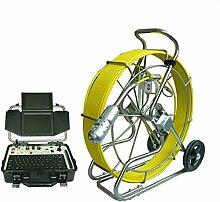 Gowe 120m Kabel 360Grad Pan und Tilt Drehen Schubstange Kanalisation Video Inspektion Kamera Roboter mit HD DVR Steuereinheit Sensor Größe: 1/10,2cm; horizontale Auflösung: 700TVL; Signal System: PAL