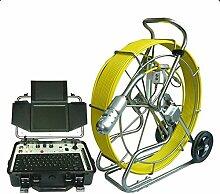 Gowe 120m Kabel Pan und Tilt Drehen Pipeline Kanalisation Inspektionskamera Roboter System mit Meter Zähler Funktion