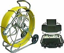 Gowe 120m Kabel Schubstange Kanalisation Kamera industriellen Rohr Inspektion Roboter mit HD DVR Kontrolle Box Sensor Größe: 1/10,2cm; horizontale Auflösung: 700TVL; Signal System: NTSC