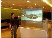 Gowe 165,1cm transparent Interaktives Touch Folie, 10Punkte Touch Folie für Fenster Glas Shop