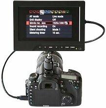 Gowe 17,8cm HDMI HD TFT LCD auf Kamera DSLR Rig 1080P HDMI Monitor mit Sonnenschutz für BMCC BMPCC DSLR-Kameras