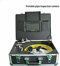 Gowe 17,8cm Montior 23mm Edelstahl Wasserdicht Sewer Rohr Inspektionskamera mit 20m Kabel Sensor Größe: 1/10,2cm; horizontale Auflösung: 420TVL; Signal System: PAL