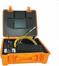 Gowe 20m Kabel Faser Glas 20,3cm TFT LCD Wasserdicht Rohr Kanalisation Inspektionskamera 12LEDs Endoskop Schlange Kamera Sensor Größe: 1/10,2cm; horizontale Auflösung: 420TVL; Signal System: NTSC