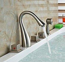 Gowe 5x Deck montiert Wasserfall Badewanne Badewanne Wasserhahn mit Handbrause Master Sanitär Armaturen