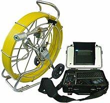 Gowe 60m Kabel Spule Dia. 40mm Selbstnivellierender Kamerakopf tragbar Rohr Kanalisation Ablauf Inspektionskamera Sensor Größe: 1/10,2cm; horizontale Auflösung: 700TVL; Signal System: PAL