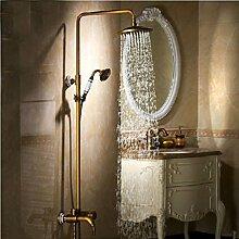 Gowe Antik Messing Rainfall Dusche Bad Wasserhahn Set Badewanne Armatur Dusche Armaturen