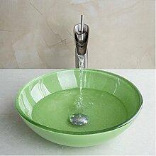 Gowe Art Waschbecken aus Sekuritglas mit Nickel