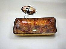 Gowe Bad Waschbecken Waschbecken aus Sekuritglas