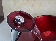 Gowe Badezimmer Art Rund Waschbecken rot