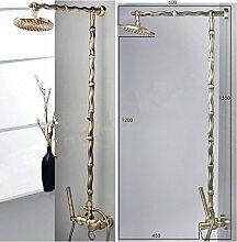 Gowe Badezimmer Regen Dusche Set Antik Wand Wasserfall Dusche Wasserhahn mit 20,3cm Regendusche Massiv Dusche Mixer