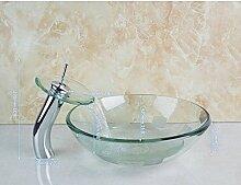 Gowe Badezimmer rund transparent klar Art