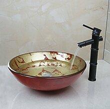 Gowe Bambus schwarz Wasserhahn Badezimmer