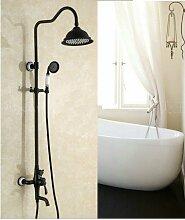 Gowe blau und weiß Porzellan Öl eingerieben Bronze Regen Dusche Wasserhahn Badewanne Armatur Handbrause