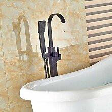 Gowe Boden Mount Single Griff Badewanne Armatur Wasserhahn freistehend mit Handbrause Badewanne Filler Öl eingerieben Bronze