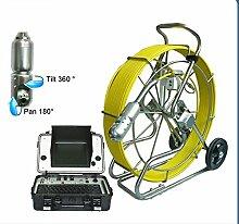 Gowe CCTV Kanalisation Kamera 360Grad drehbar Sanitär Rohr Inspektionskamera System 120m Kabel Sensor Größe: 1/10,2cm; horizontale Auflösung: 700TVL; Signal System: NTSC