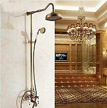 Gowe Elegante Porzellan Antike Messing Badezimmer Regen Dusche Wasserhahn Badewanne Auslauf Hand Armatur