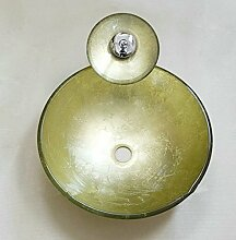 Gowe Hand Paint Art Waschbecken gehärtetem Glas