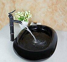 Gowe hoch schwarz Waschtischarmatur Artistic