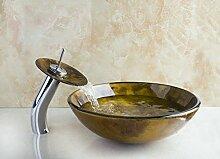Gowe Klassisches Glas rund Badezimmer Kunst
