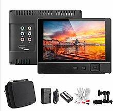 Gowe LCD Field Digital Monitor Kit 17,8cm V für Canon Nikon DSLR Camcorder + Akku + Sonnenschutz + Magic Arm