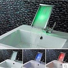 Gowe LED Waschbecken Wasserhahn LED Wasserhahn LED