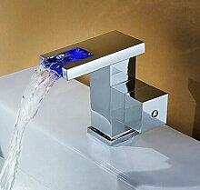 Gowe LED Wasserfall Waschbecken Wasserhahn