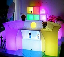 Gowe Luminous Fernbedienung LED Bar, polydeco Bar, LED Jumbo Bar Tisch, wiederaufladbar rundbar LED Bartresen Möbel