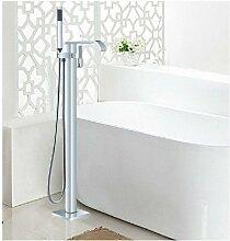 Gowe Luxus Bodenmontage Badewanne Wasserhahn Badewanne Filler Wasserfall Auslauf Handbrause Armatur
