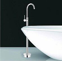 Gowe Luxus Bodenmontage Badewanne Wasserhahn Handbrause, Mischbatterie, freistehend