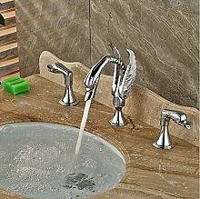 Gowe Luxus Chrom poliert Messing Swan Wasserhahn