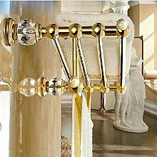 Gowe Luxus Golden Messing Wand montiert Handtuch Rack Halter Kristall Kleiderbügel Handtuch Bar Halter Handtuch Regal