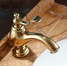 Gowe Luxus Golden Messing Waschbecken Wasserhahn
