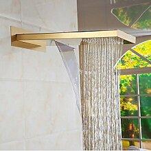 Gowe Luxus Messing WATERFAL Dusche Wasserhahn Set