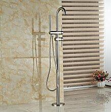 Gowe massivem Messing Nickel gebürstet Badezimmer Badewanne Wasserhahn Armatur Badewanne Filler Hand Dusche Set Wasserhahn