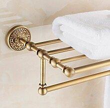 Gowe Modern Messing antik Badezimmer Regal Handtuchhalter Halter Handtuch Bar Kleiderbügel