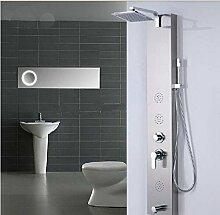 Gowe Moderne Nickel gebürstet Dusche Spalte Badewanne Armatur mit Massagedüsen Handbrause