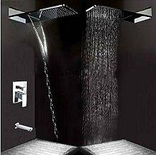 Gowe Moderne Wasserfall Ultrathin quadratisch Mischbatterie Badewanne Duschkopf Wandhalterung