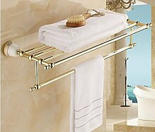 Gowe modernes vergoldet Badezimmer Wand montiert Handtuch Regal/Handtuchhalter Rack