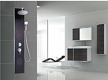 Gowe Multifunktions-Badezimmer Rainfall Duschsäule Duschpaneel Massagedüsen Dusche Wasserhahn Set Wandhalterung