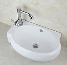 Gowe New Keramik Waschbecken Schiff WC Waschbecken Waschbecken Badewanne kombinieren Messing, Wasserhähne, Armaturen & Wasserhähne