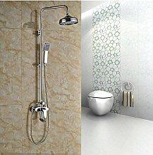 Gowe One Griff Brause Armatur Wasserhähne Bad Dusche Set mit 20,3cm Messing Regen Duschkopf + Handbrause Farbe: Weiß