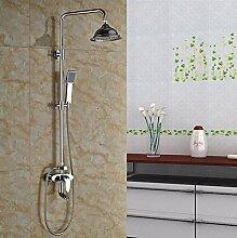 Gowe One Griff Brause Armatur Wasserhähne Bad Dusche Set mit 20,3cm Messing Regen Duschkopf + Handbrause Farbe: Gelb