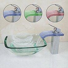 Gowe quadratisch Glas Waschbecken Vessel Spüle