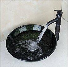 Gowe rund Waschbecken Waschbecken aus Sekuritglas