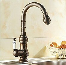 Gowe Schwenkauslauf Messing antik Badezimmer Küche Wasserhahn Vessel Spültischbatterie